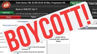 Top Online Poker Players BOYCOTT PokerStars