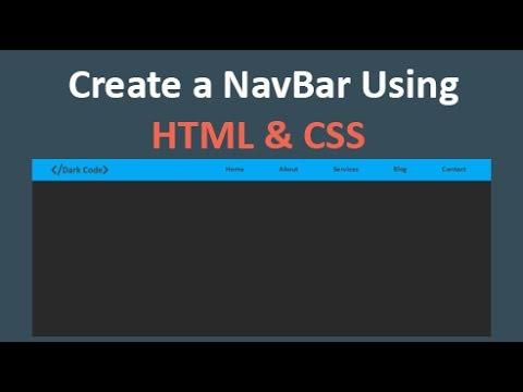 How to Create a navbar Using [HTML/CSS]