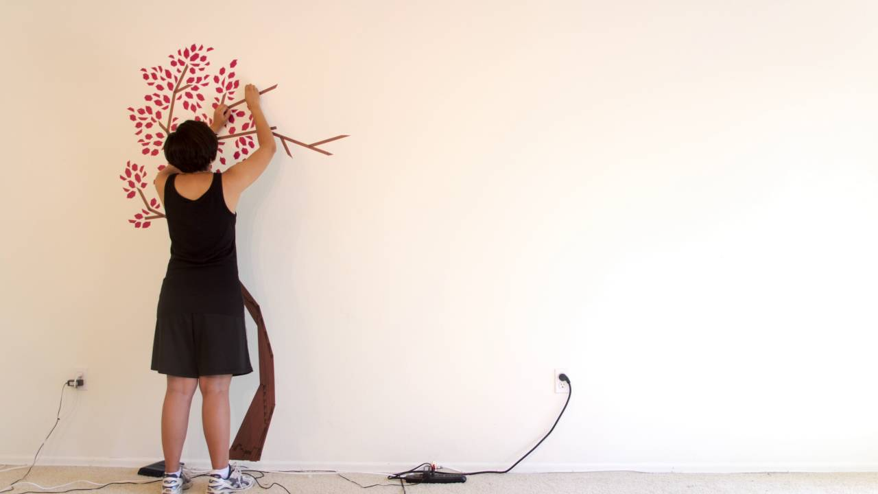 living room washi tape wall art tree timelapse youtube. Black Bedroom Furniture Sets. Home Design Ideas