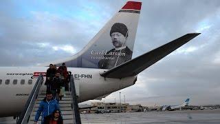 Public toilet on Norwegian Air Boeing 737-800 flying from Madrid to Reykjavik