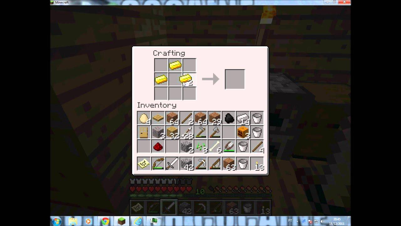 Como Fazer Um Relgio Minecraft