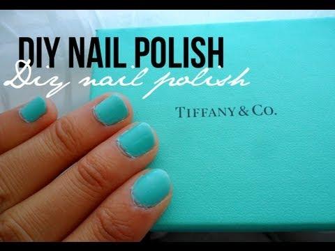 DIY: Tiffany & Co. Blue Nail Polish Color - YouTube