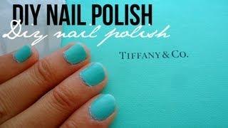 DIY: Tiffany & Co. Blue Nail Polish Color