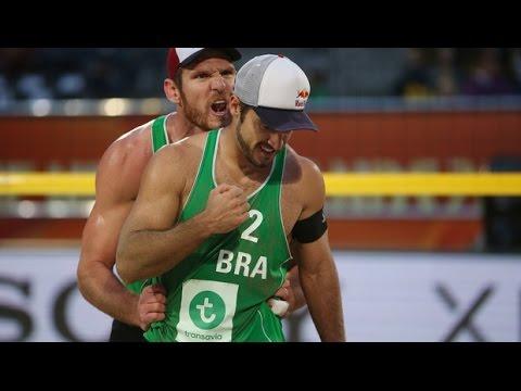 Alison/Bruno (BRA) vs. Jefferson/Cherif (QAT) - Apeldoorn - Men World Championships 2015