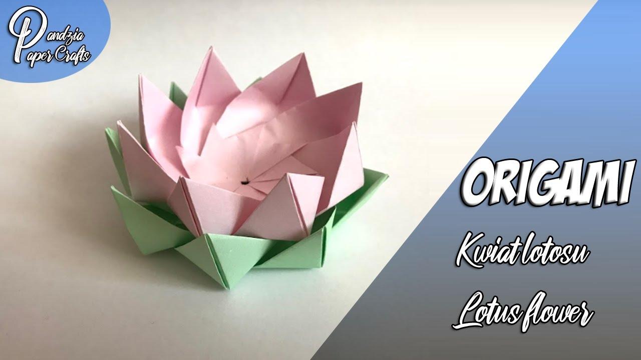 Origami: Kwiat lotosu - YouTube