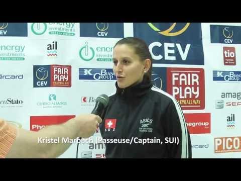 Schweizer Nationalteam Frauen, EM-Qualifikation in Lugano, SUI-LAT, Interview Kristel Marbach