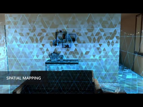 Room Mapping microsoft hololens: spatial mapping - youtube