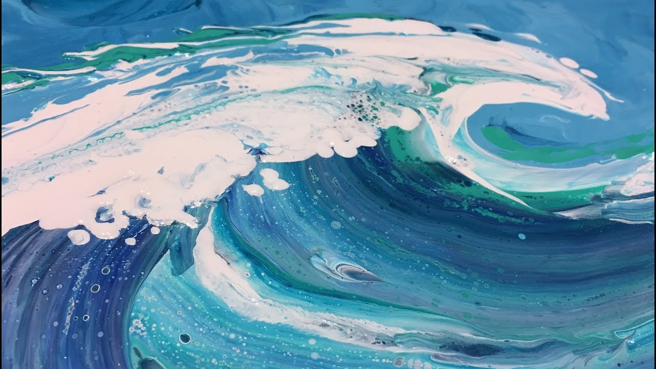 Ocean Wave Lines Beach