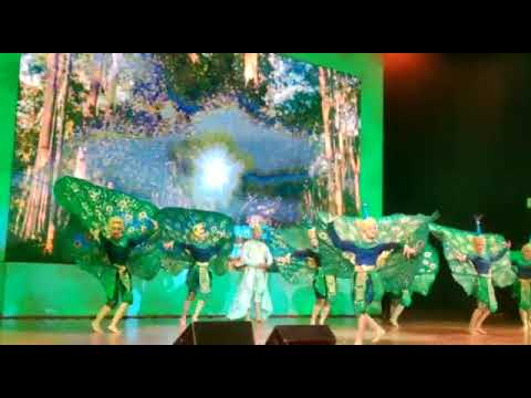 Traditional Magical Peacock dance by dancers of  Cambodia