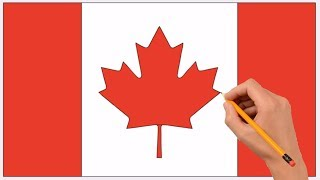 How to Draw a Canada Flag Step by Step Easy