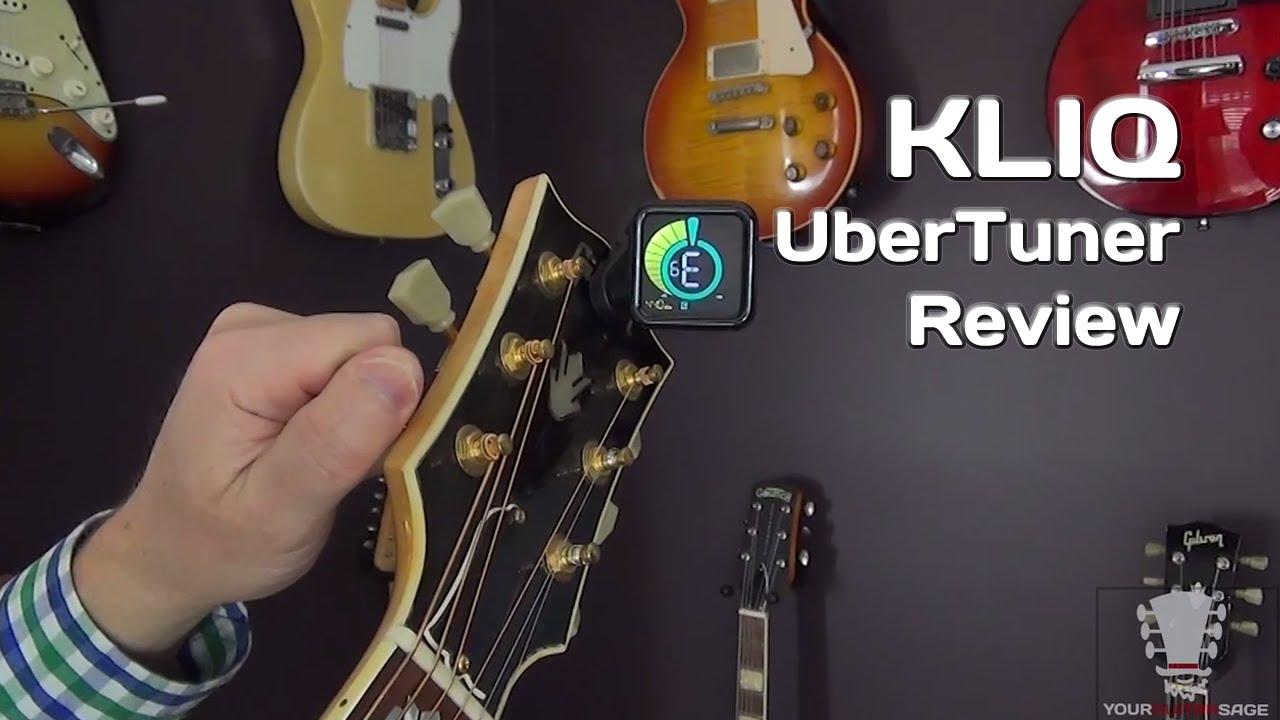KLIQ UberTuner Review - Clip On Tuner - YouTube