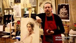 Вопрос прожухания и для чего нужен лак - Обучение живописи. Масло. Введение, 5 серия