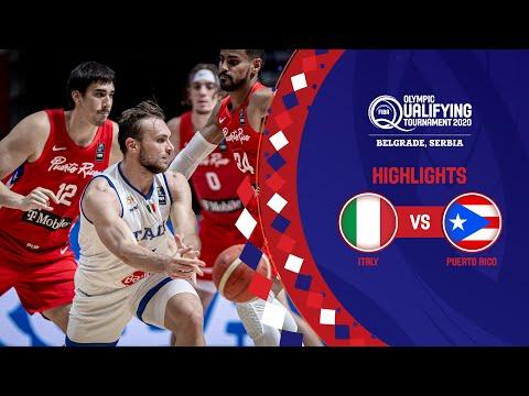 Italy - Puerto Rico   Game Recap - FIBA Olympic Qualifying Tournament 2020