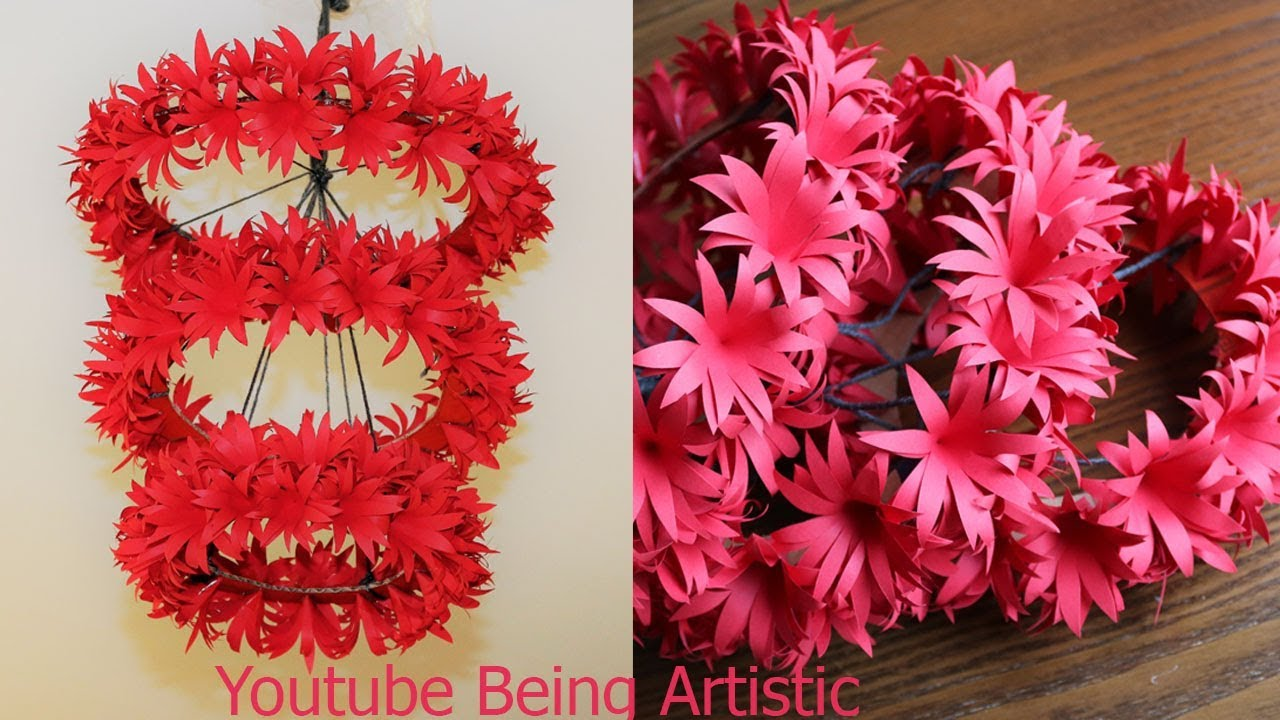 Diy Simple Home Decor Hanging Flowers Paper Craft Home