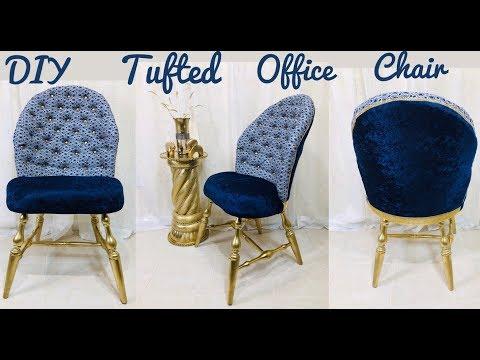 Dollar Tree / Home Depot / Walmart / DIY / Manualidades / Glam Tufted Office Chair Under $30 2019