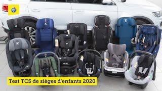 Test TCS de sièges d'enfants 2020 - part 2