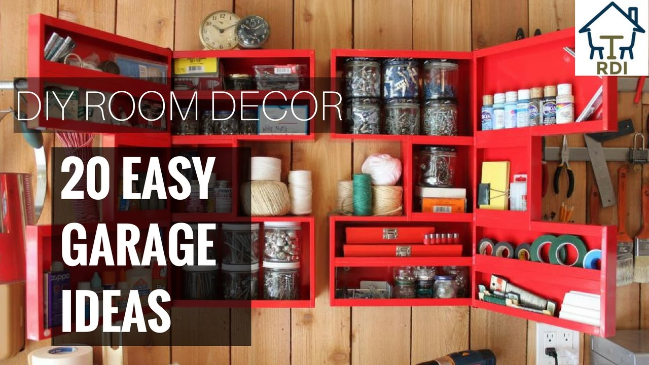 20 Simple and Easy Garage Decorating Ideas - YouTube on Garage Decoration  id=29086