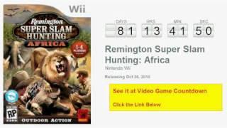 Remington Super Slam Hunting: Africa Wii Countdown