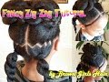 Fancy Zig Zag Ponytails Tutorial