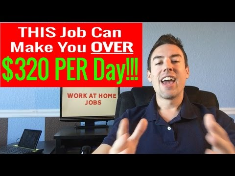 Work At Home Jobs -  [Legitimate Work From Home Jobs] Make Up To $320 PER Day!!