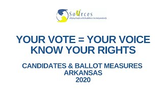 SOURCES Your Vote = Your Voice Educational Series, Part 2: Candidates & Issues