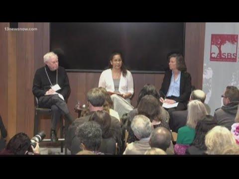 Vanessa Tyson speaks at symposium regarding 'Me Too' movement.