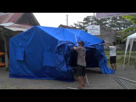 Tutorial  Mendirikan Tenda Posko Kesehatan