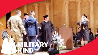 Military mom stopped in tracks on graduation day