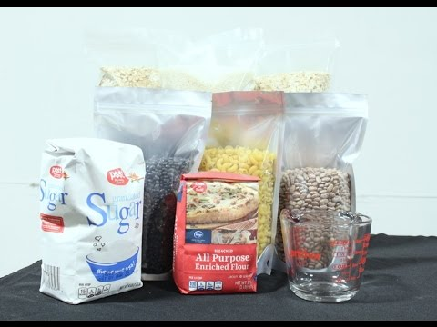 Long Term Food Storage W Mylar Bag Oxygen Absorbers And