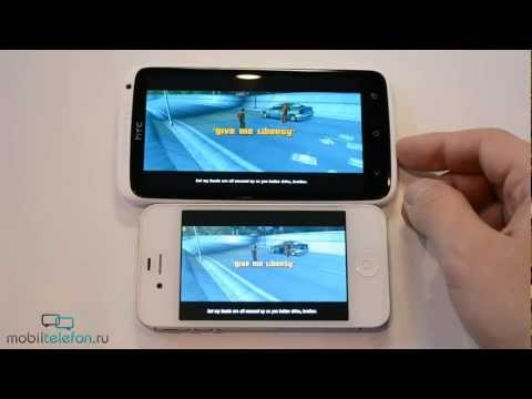 HTC One X vs iPhone 4S: скорость (speed comparison)