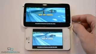 HTC One X vs iPhone 4S: скорость (speed comparison)(HTC One X vs iPhone 4S: скорость (speed comparison) Цена дня на iPhone 4S - http://bit.ly/1y4W8Qf Цена дня на HTC One X - http://bit.ly/1v8IKM1 Музыка: ..., 2012-09-17T05:48:31.000Z)