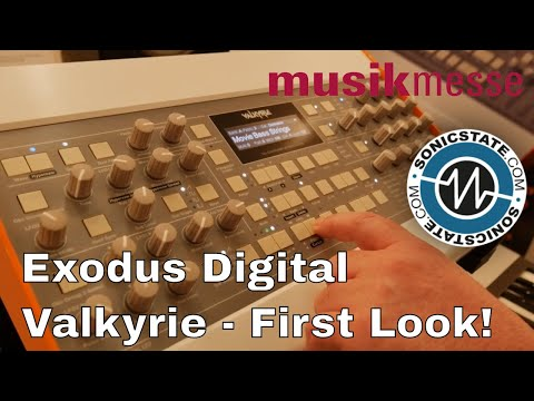 MESSE 2018: 128 voice VA - Exodus Digital Valkyrie - First Look!