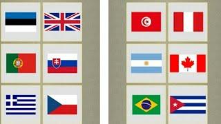 Let's Play • Flagi świata • Nauka flag dla dzieci po polsku, Edukacja, Gry dla dzieci