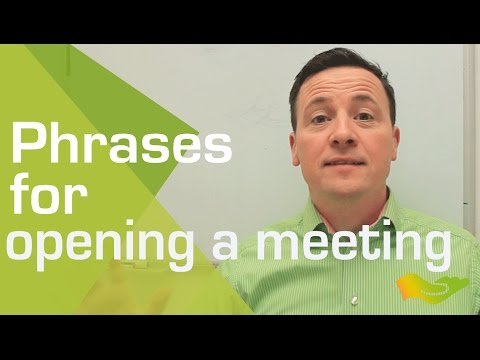 English lesson. Top five phrases for opening an international meeting in English.