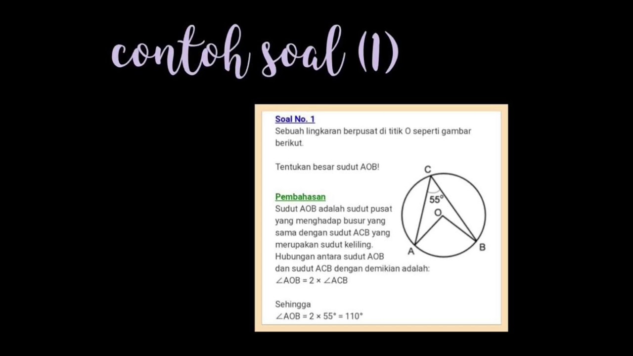 Central angle and Inscribed angle // math - YouTube