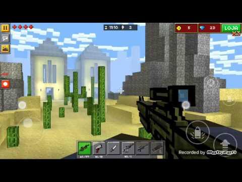 Jogo de tiro de Minecraft para Celular