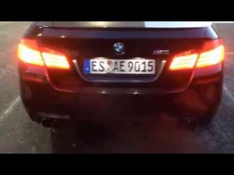 BMW M5 F10 Sound V8 Bi-Turbo Turbo Whistle Exhaust