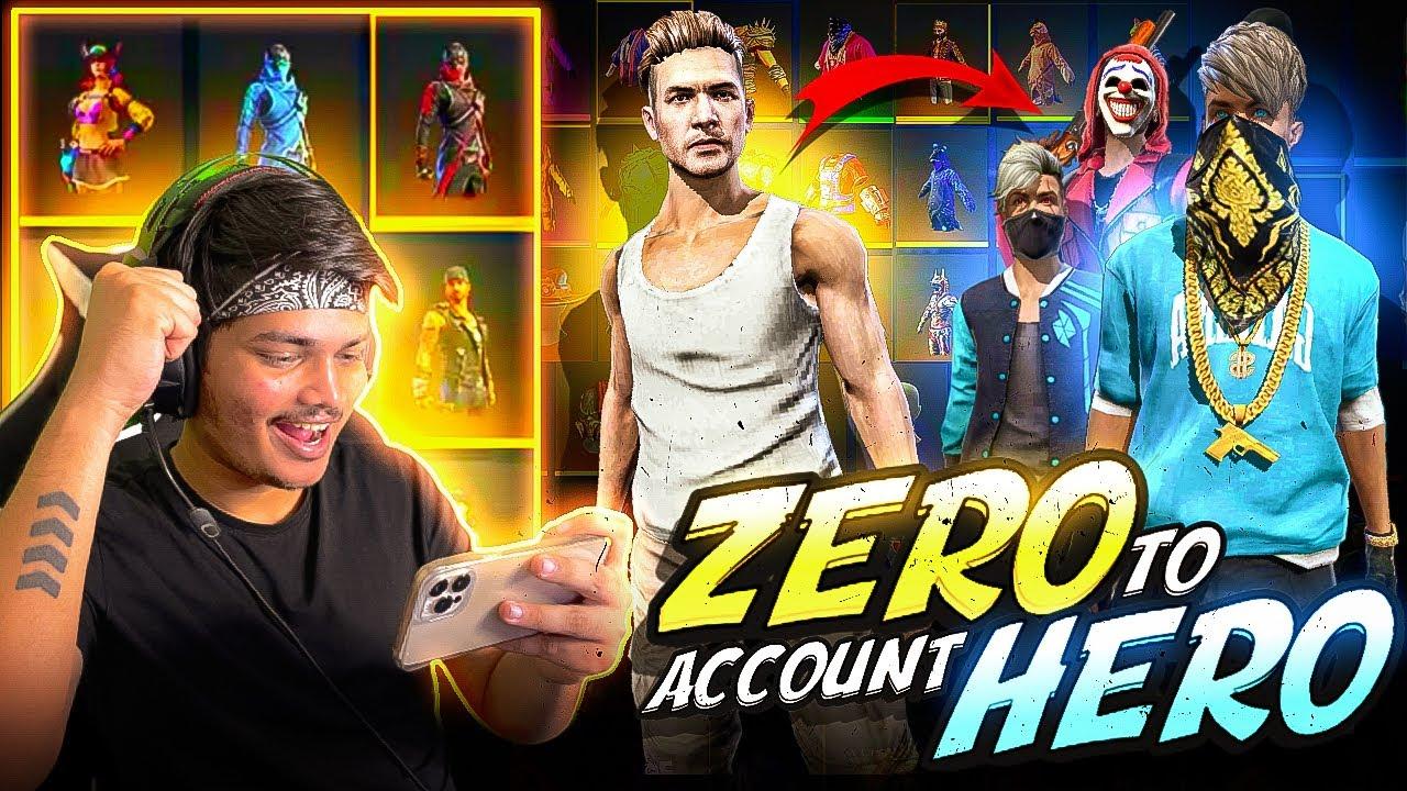Spending 50.000 Diamonds In New Account And Made It Pro 😵💰|| Zero To Hero -Garena free fire