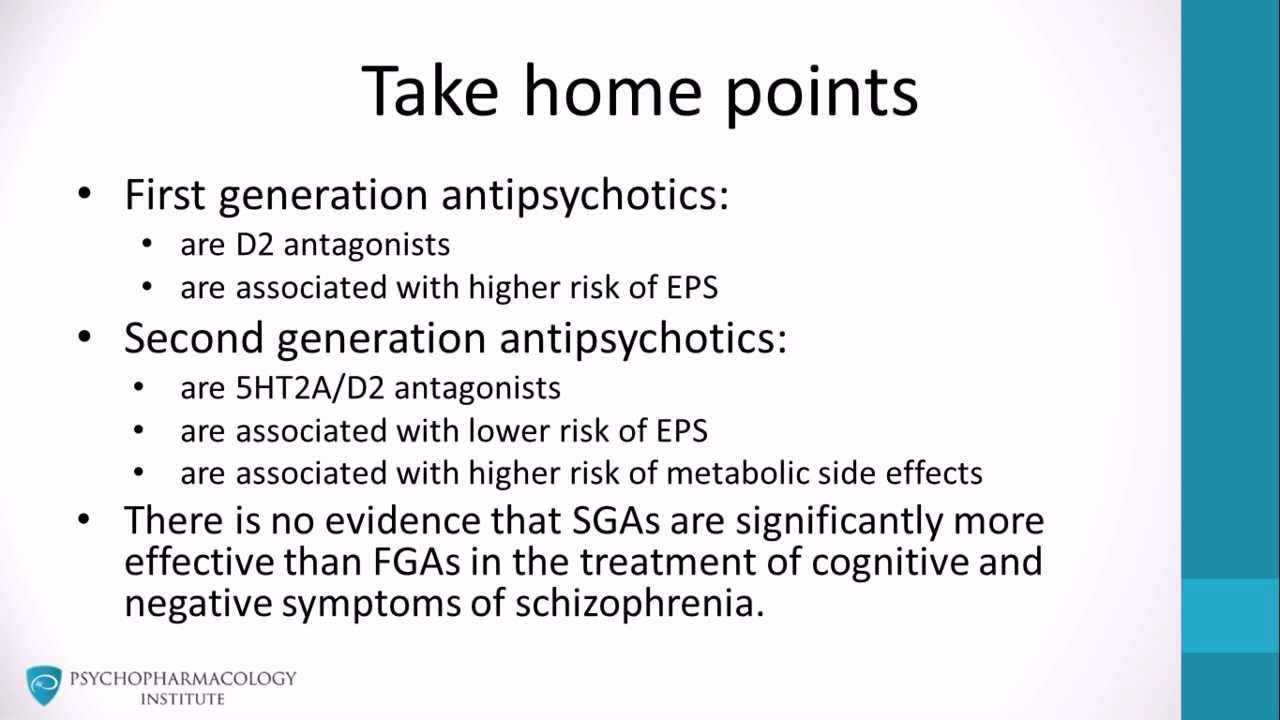 Summary- Typical Vs Atypical Antipsychotics