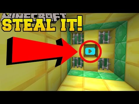 Minecraft: STEALING THE DIAMOND PLAY BUTTON!!! - Custom Map - Видео из Майнкрафт (Minecraft)
