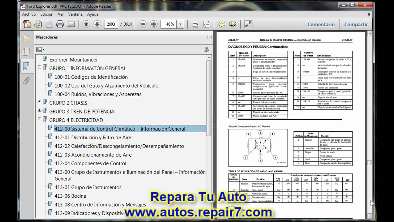 Ford Sport Trac Fuse Diagram Ford Explorer Reparaci 243 N Y Mec 225 Nica De Autos Repair7