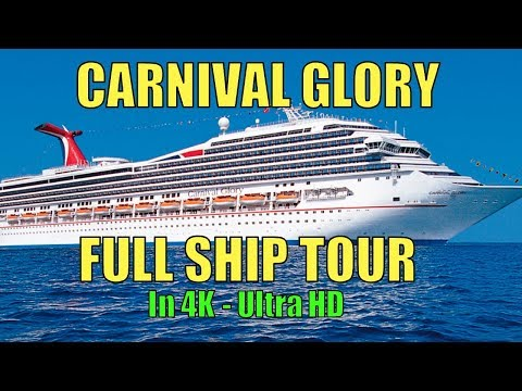 Carnival Glory ~ Complete Ship Tour In 4K ~ Carnival Cruise Lines