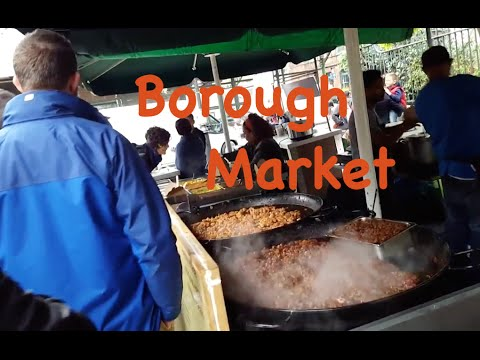 London street food - Halal options in Borough Market Southwark