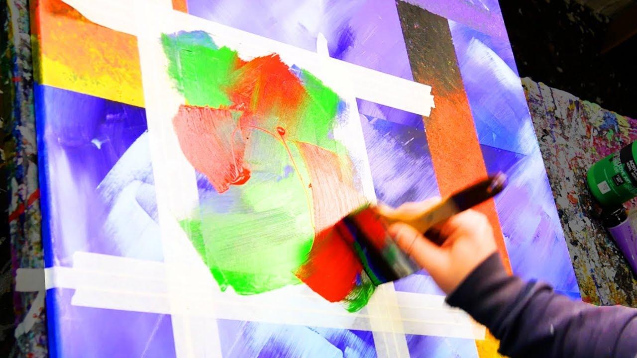 Abstract Art Using Masking Tape