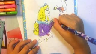 ►Bé tô màu Công chúa ngủ trong rừng – Tô nhanh nhất ✿ Hình 2  ☼  How to color Princess
