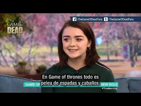 Maisie Williams nerviosa por el final de Game of Thrones (Subtitulado)