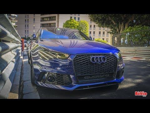 2x Audi Rs6 with custom Exhaust in Monaco