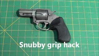 Pachmayr Grip Hack,  Bulldog Snubby Bigbore Revolver