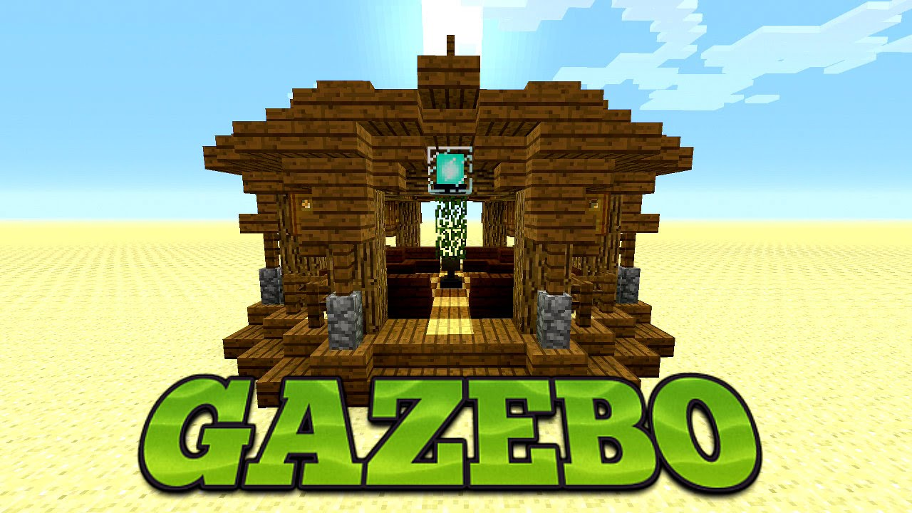 minecraft how to build a gazebo tutorial minecraft garden design idea youtube
