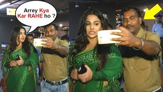 Vidya Balan Gets ANGRY On A Fan For Touching While Taking Selfie